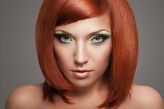 Красная женщина волос Стоковые Изображения RF