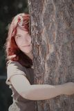 Красная женщина волос  Стоковая Фотография