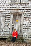 красная женщина Стоковые Фото