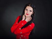 красная женщина стоковое фото rf