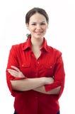 красная женщина Стоковое Фото