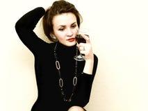 красная женщина whine Стоковое Фото