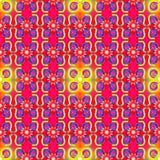 Красная желтая безшовная картина иллюстрация вектора