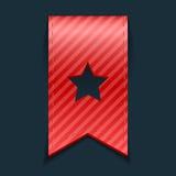 Красная закладка на черной предпосылке Стоковая Фотография