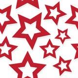 Красная затеняемая картина звезд Стоковая Фотография