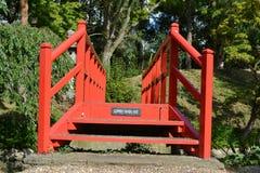 Красная зала fanhams Англии моста путешествуя всход weeding праздника Стоковое Изображение RF