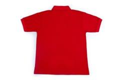 Красная задняя часть рубашки поло Стоковые Изображения