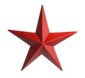 Красная звезда изолированная над белой предпосылкой Стоковое Фото
