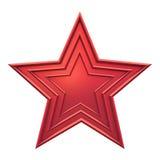 красная звезда иллюстрация штока