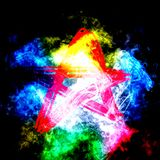 Красная звезда анархии Стоковое Фото