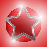 Красная звезда Стоковое Изображение