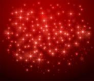 Красная звёздная предпосылка иллюстрация вектора