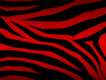 красная зебра вектора Стоковая Фотография
