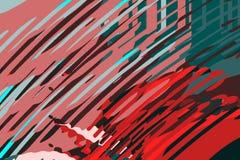 Абстрактная современная предпосылка Творческие красочные формы и формы Геометрическая картина Красная, зеленая и голубая яркая гр иллюстрация штока