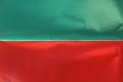 Красная зеленая металлическая бумажная предпосылка текстуры Стоковое Изображение
