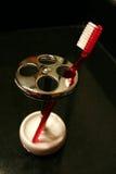 красная зубная щетка Стоковые Изображения RF