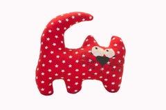 Красная игрушка кота Стоковые Фото