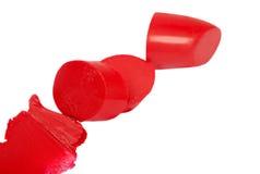 Красная изолированная губная помада, Стоковые Фотографии RF