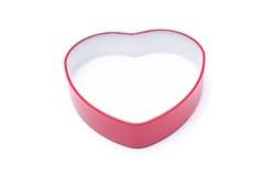 Красная изолированная коробка формы сердца Стоковое Изображение RF