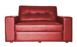 Красная изолированная софа Стоковое Изображение RF