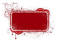Красная иллюстрация рамки Стоковые Изображения RF
