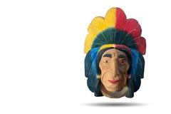 Красная индийская головная скульптура Стоковое Изображение RF