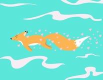 Красная лиса в влюбленности Стоковые Изображения