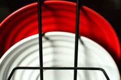 Красная и белая комбинация стоковое фото rf