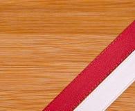 Красная и белая лента Стоковое Изображение