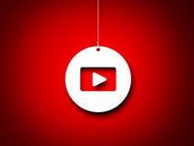 Красная и белая кнопка игры - толкование 3d Стоковая Фотография