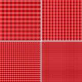 Красная и белая предпосылка для пикников 10 eps Стоковое фото RF