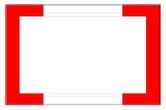 Красная и белая рамка Стоковые Изображения RF