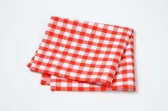 Красная и белая салфетка Стоковое Изображение RF