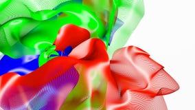 Красная и голубая абстрактная диаграмма волокна на белизне r бесплатная иллюстрация