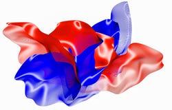 Красная и голубая абстрактная диаграмма волокна на белизне r иллюстрация штока