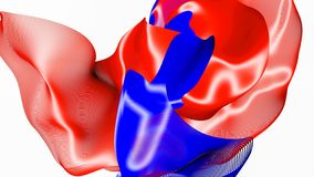 Красная и голубая абстрактная диаграмма волокна на белизне r иллюстрация вектора