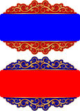 Красная и голубая предпосылка Стоковые Фотографии RF
