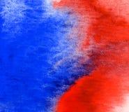 Красная и голубая текстура акварели Стоковое Изображение