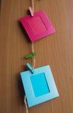 Красная и голубая картинная рамка Стоковое Изображение
