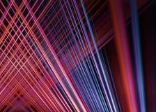 Красная и голубая светлая предпосылка следов Стоковое фото RF
