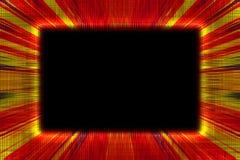 Красная и желтая рамка sunburst Стоковое Изображение