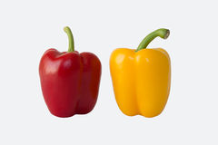 Красная и желтая паприка Стоковые Изображения RF