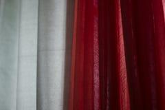 Красная и зеленая ткань стоковая фотография rf