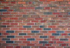 Красная и оранжевая предпосылка кирпичной стены Стоковые Изображения RF