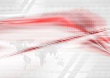 Красная и серая предпосылка технологии Стоковое Фото