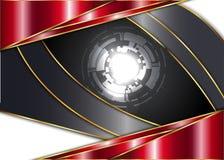 Красная и темная винтажная предпосылка пробел для сообщения или текста сертификат Стоковые Фото