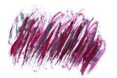 Красная и фиолетовая абстрактная помарка акварели Стоковое фото RF