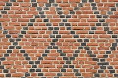 Красная и черная кирпичная стена Стоковые Фотографии RF