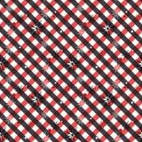 Красная и черная предпосылка картины цветков шотландки тартана безшовная абстрактная для рождества, свадьбы, стиля карт дизайна д иллюстрация вектора