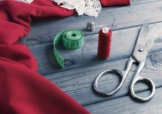 Красная и maroon ткань Стоковое фото RF